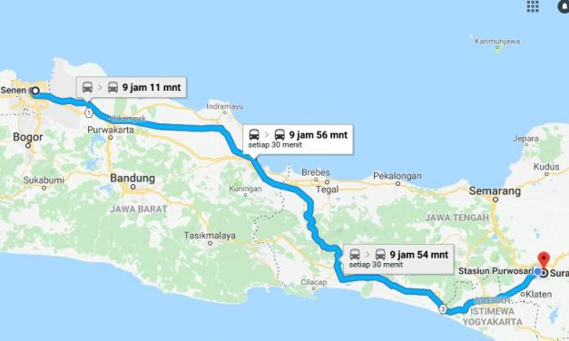 Kereta Jakarta ke Solo