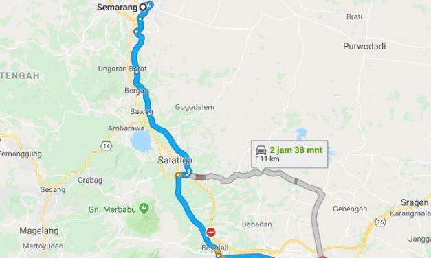 Bus Semarang ke Solo