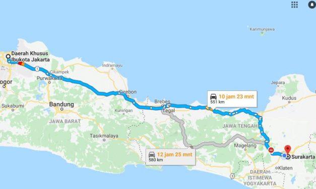 Bus Jakarta ke Solo