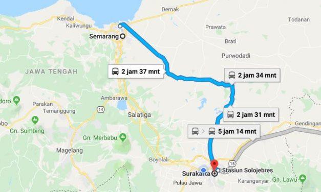 Kereta Semarang ke Solo