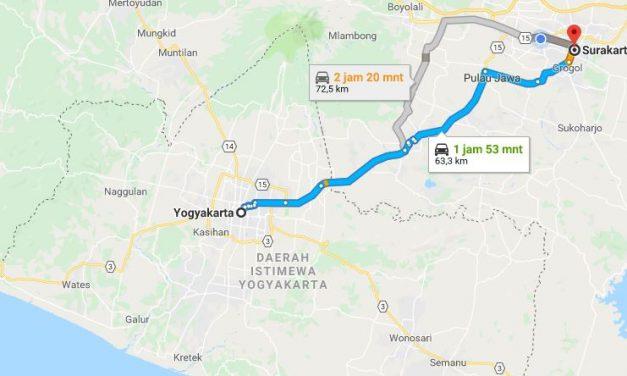 Bus Yogjakarta ke Solo