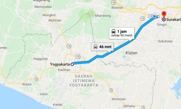 Kereta Yogyakarta ke Solo